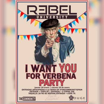 I WANT YOU FOR VERBENA PARTY